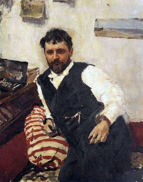 Description of the painting by Valentin Serov Portrait of Konstantin Korovin