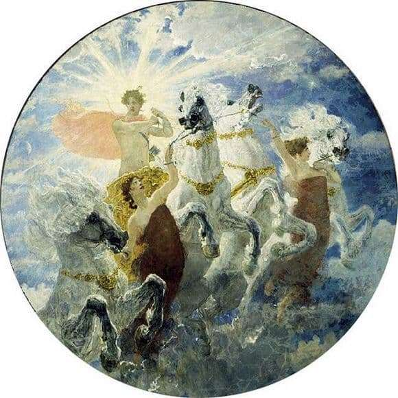 Description of the painting by Valentin Serov Phoebus radiant