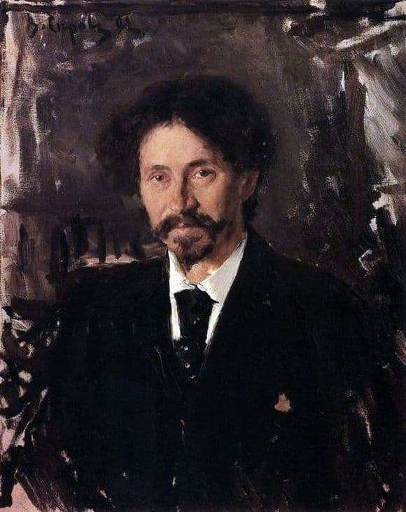 Description of the painting by Valentin Serov Portrait of Repin