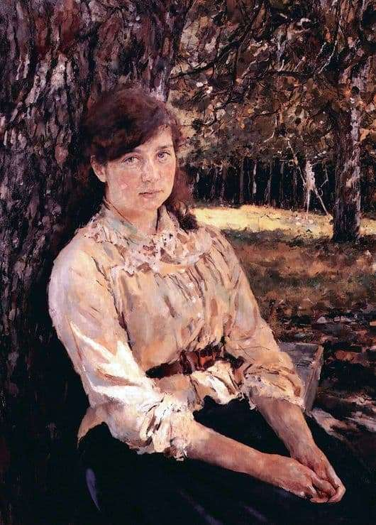 Description of the painting by Valentin Serov Girl, illuminated by the sun