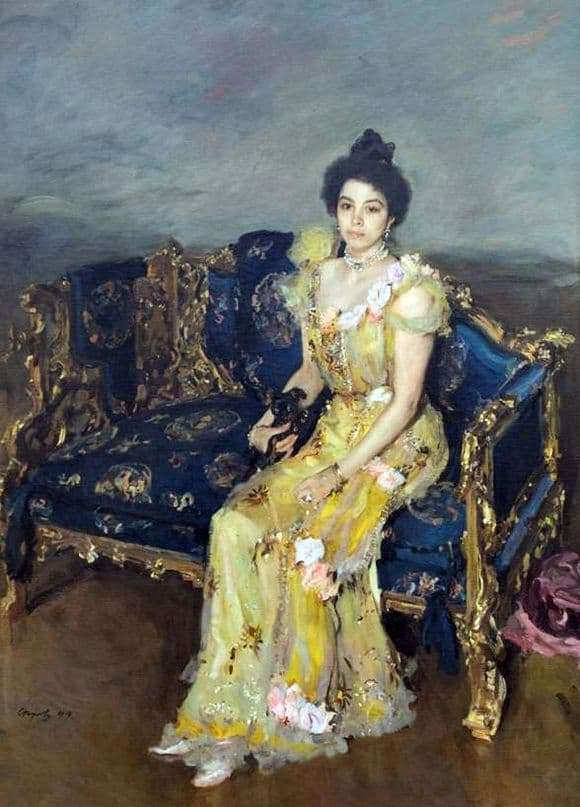 Description of the painting by Valentin Serov Portrait of Sofia Botkina