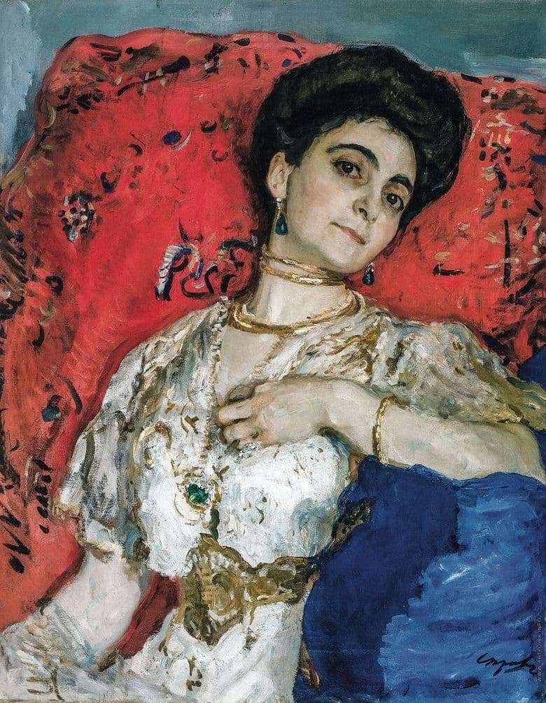 Description of the painting by Valentin Serov Portrait of Akimova