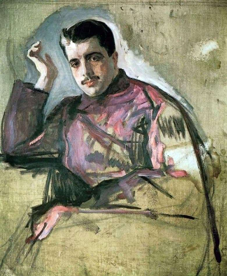 Description of the painting by Valentin Serov Portrait of P. P. Dyagilev