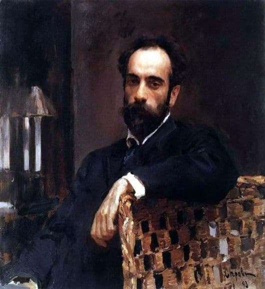 Description of the painting by Valentin Serov Portrait of the artist Levitan