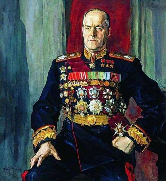 Description of the painting by Pavel Korin Portrait of Marshal Zhukov