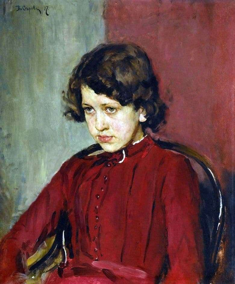 Description of the painting by Valentin Serov Portrait of Praskovya Mamontova