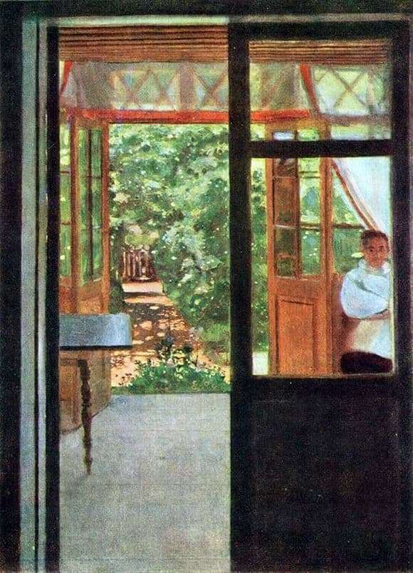 Description of the painting by Konstantin Somov On the balcony