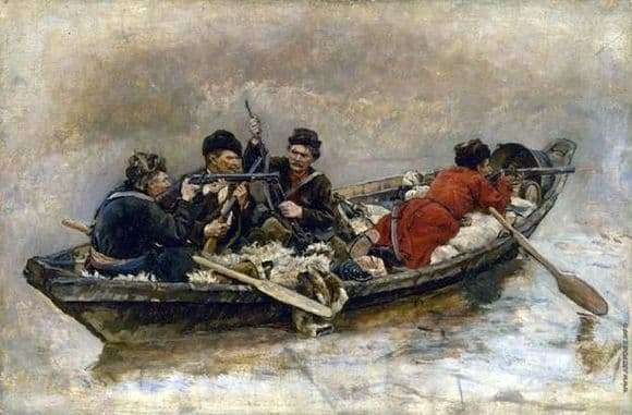 Description of the painting by Vasily Surikov Cossacks in a boat