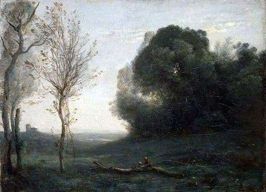 Description of the painting by Camille Corot Morning