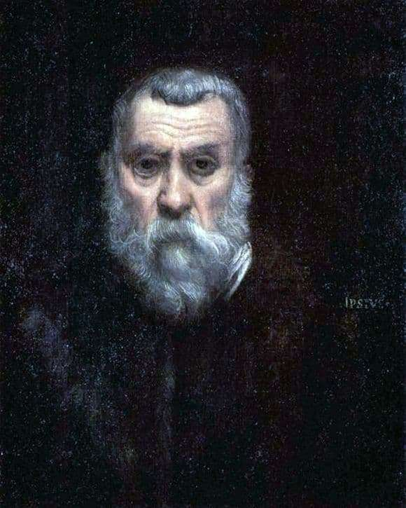 Description of the painting by Jacopo Tintoretto Self portrait