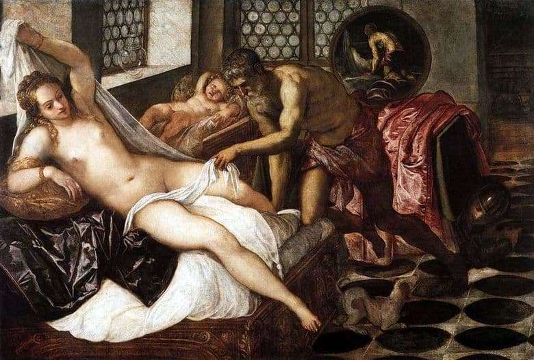 Description of the painting by Jacopo Tintoretto Venus, Vulcan and Mars
