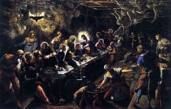 Description of the painting by Jacopo Tintoretto The Last Supper