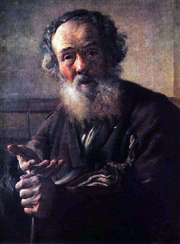Description of the painting by Vasily Andreevich Tropinin Beggar Old Man (1823)
