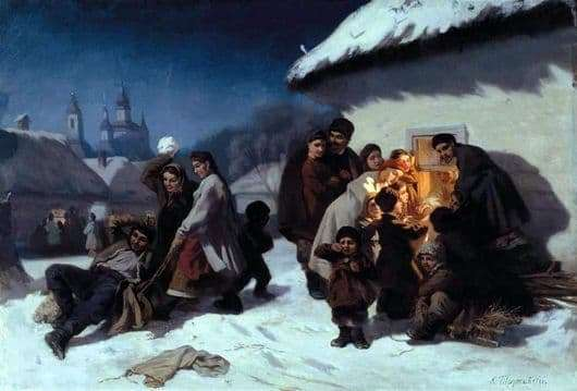 Description of the painting by Konstantin Trutovsky Carols in the Ukraine
