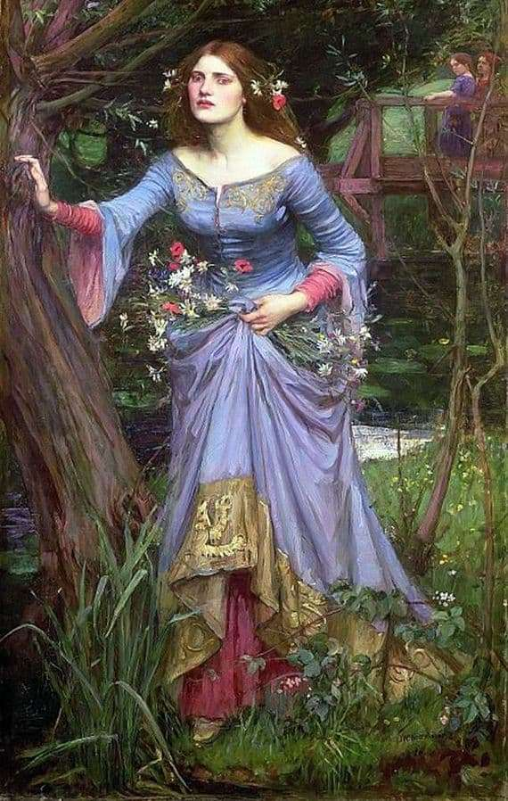Description of the painting by John Waterhouse Ophelia