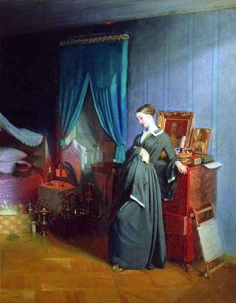 Description of the painting by Pavel Fedotov The widow