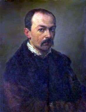 Description of the painting by Pavel Fedotov Self portrait