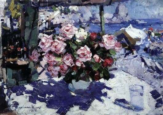 Description paintings Constantine Korovin Roses