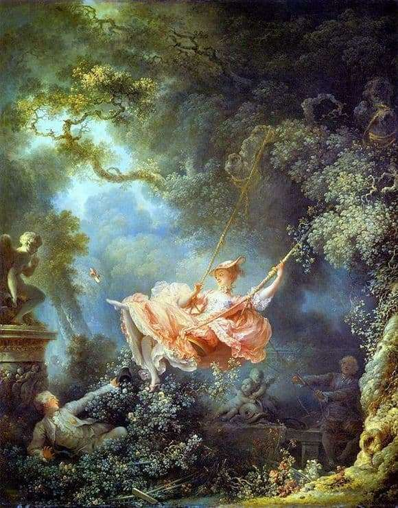 Description of the painting by Jean Honore Fragonard Swing