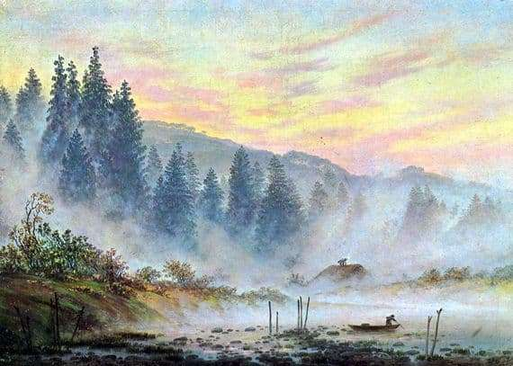 Description of the painting by Caspar Friedrich Morning