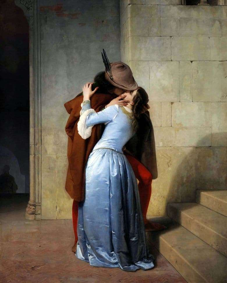 Description of the painting by Francesco Hayes Kiss