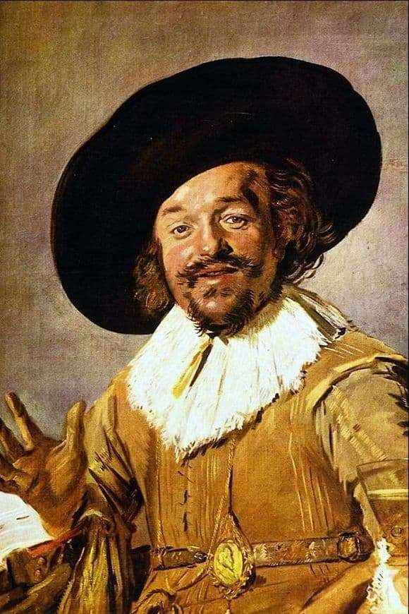 Description of the painting by Frans Hals Cheerful drinking companion (Drunkard)
