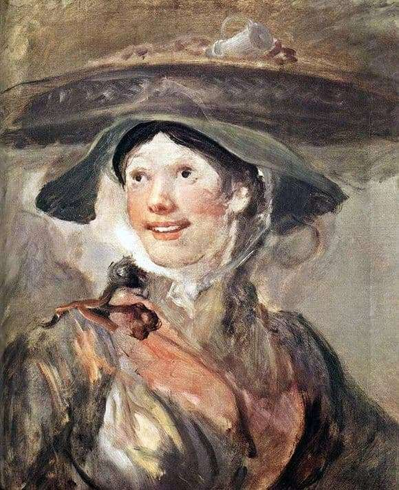 Description of the painting by William Hogarth Girl with shrimp