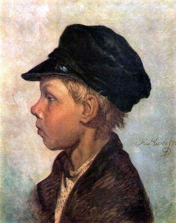 Description of the painting by Nicholas Chekhov Peasant boy