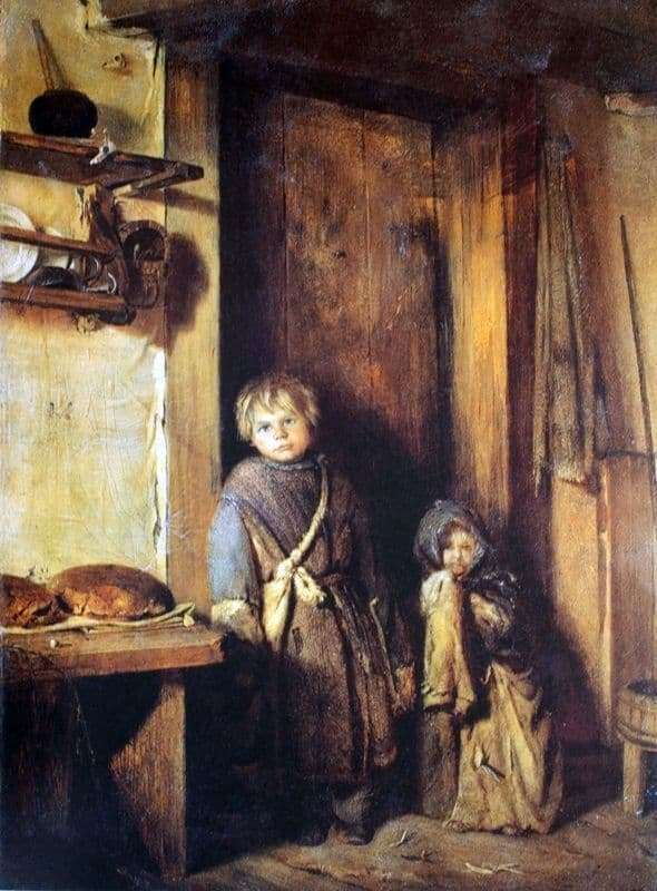 Description of the painting by Pavel Chistyakov Beggars children