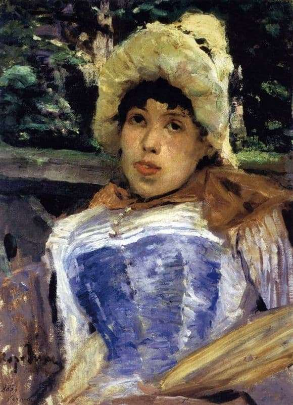 Description of the painting by Konstantin Korovin Portrait of a chorus girl