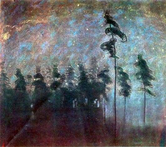 Description of the painting by Mikalojus Čiurlionis Forest