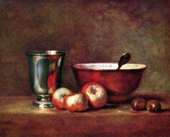 Description of the painting by Jean Baptiste Simeon Chardin Still Life