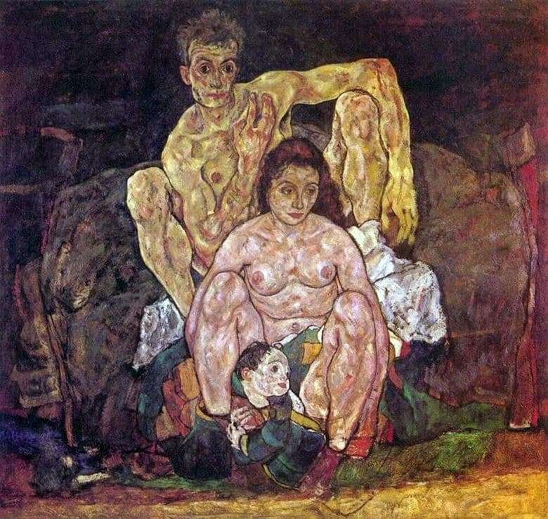 Description of the painting by Egon Schiele Family