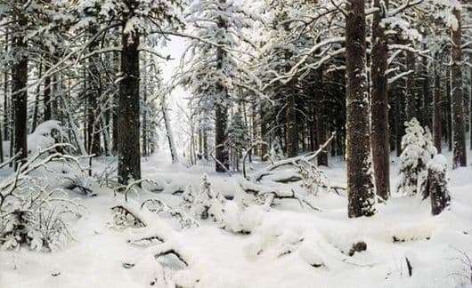 Description of the painting by Ivan Shishkin Winter (Winter Forest)