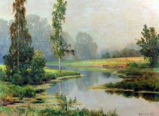 Description of the painting by Ivan Shishkin Foggy Morning