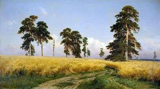 Description of the painting by Ivan Shishkin Rye