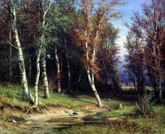 Description of the painting by Ivan Shishkin The forest before the storm
