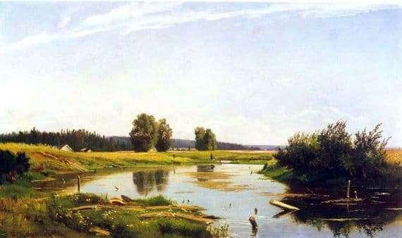 Description of the painting by Ivan Shishkin Landscape with a lake