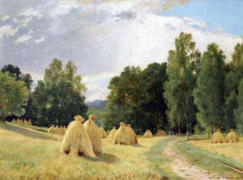 Description of the painting by Ivan Shishkin Haystacks. Transfiguration
