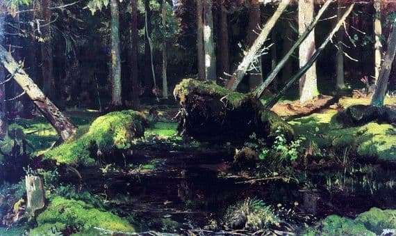 Description of the painting by Ivan Shishkin Burel