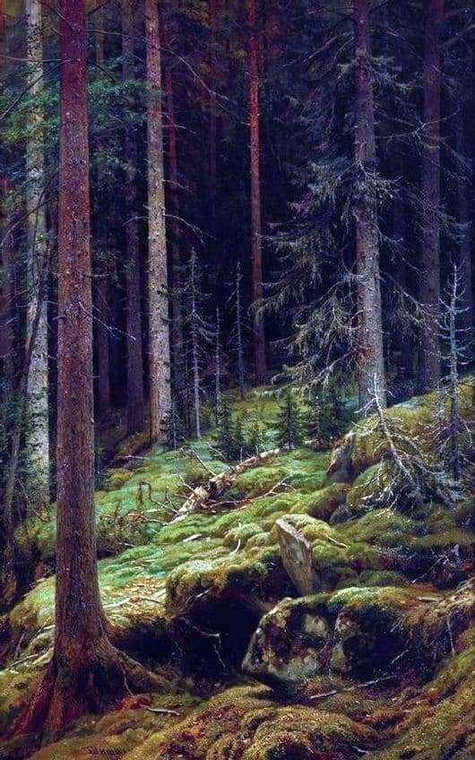 Description of the painting by Ivan Shishkin Debre