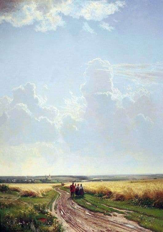 Description of the painting by Ivan Shishkin Noon. In the vicinity of Moscow