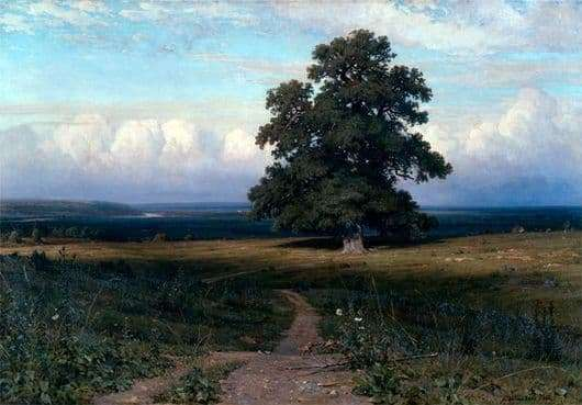 Description of the painting by Ivan Shishkin Among the flat valley