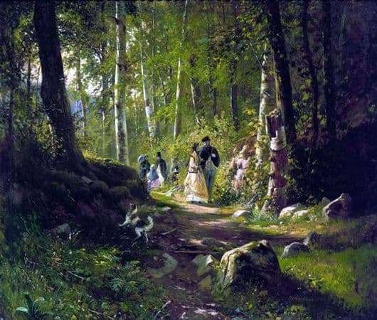 Description of the painting by Ivan Shishkin Walk through the forest