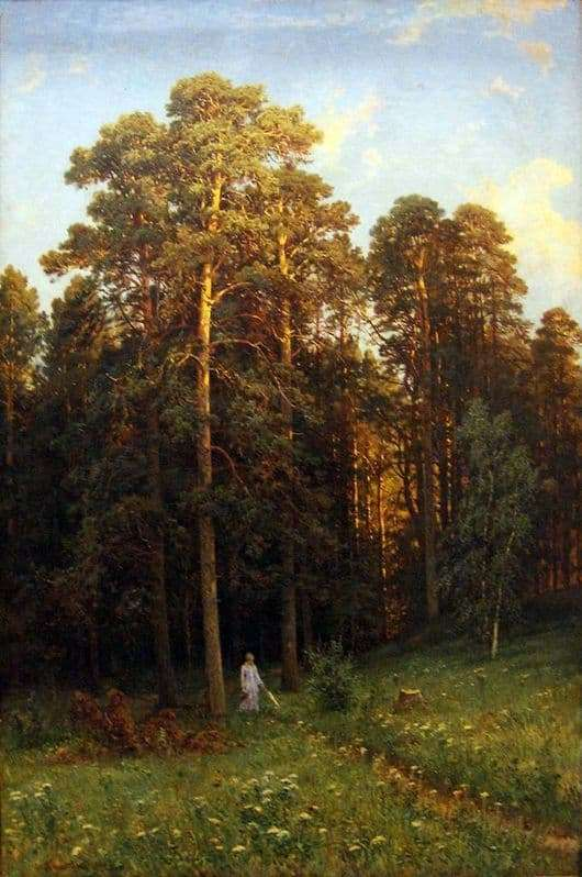 Description of the painting by Ivan Shishkin At the edge of a pine forest
