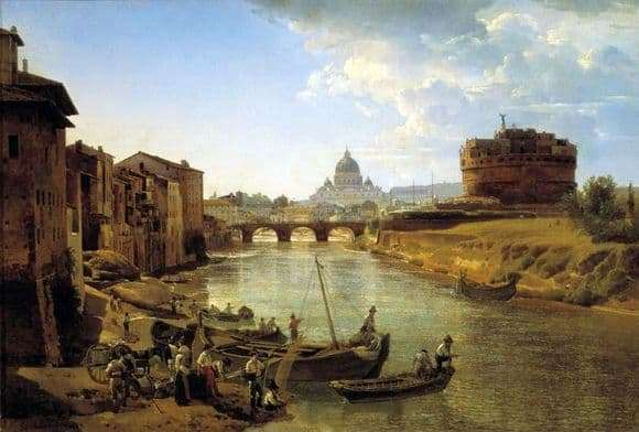 Description of the painting by Sylvestre Shchedrin New Rome. Castle of the Holy Angel