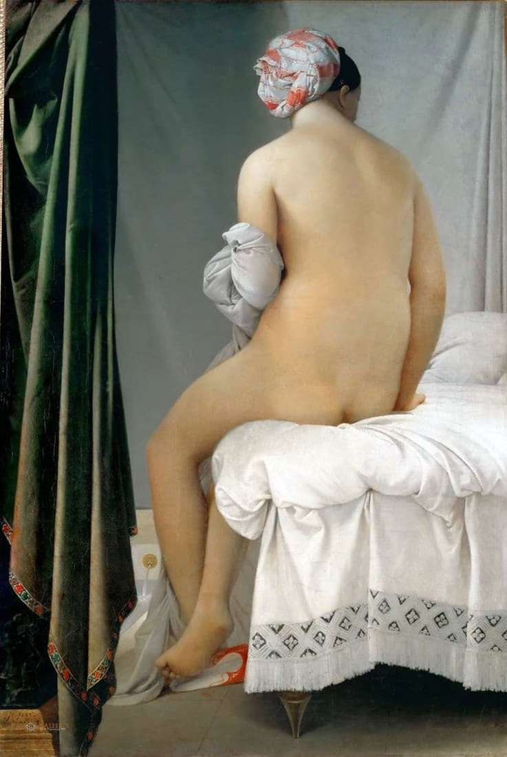 Description of the painting by Jean Auguste Ingres Bather