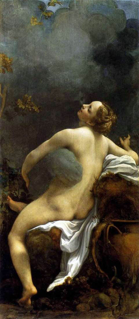 Description of the painting by Correggio Jupiter and Io