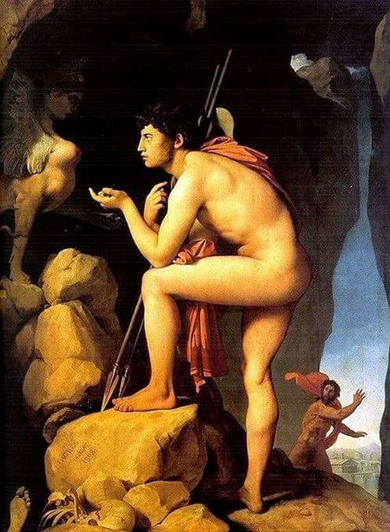 Description of the painting by Jean Auguste Ingres Oedipus and the Sphinx
