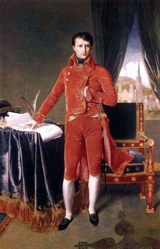 Description of the painting by Jean Auguste Ingres Consul Napoleon
